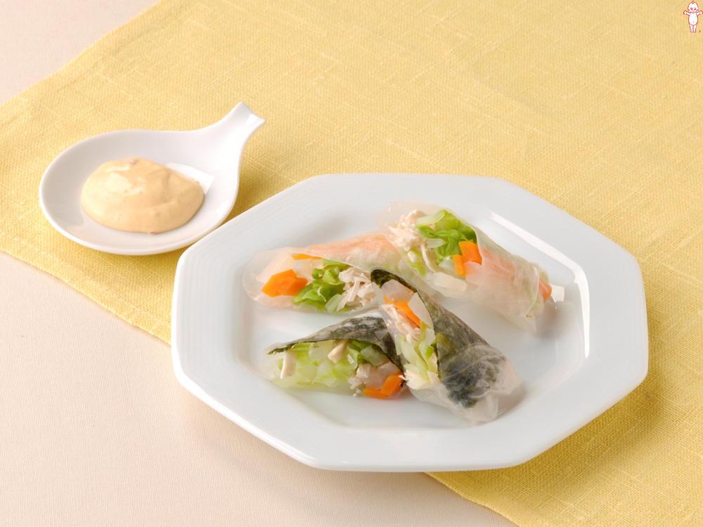 写真:韓国風生春巻きサラダ