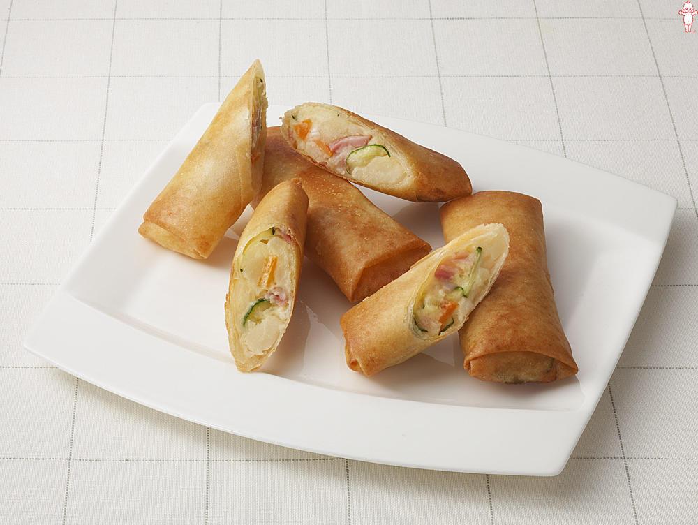 写真:ポテトサラダが大活躍!カリふわ春巻き