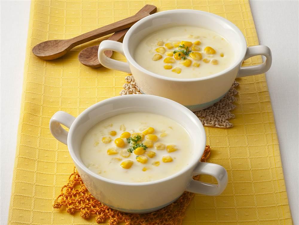 写真:コーンたっぷりコーンクリームスープ