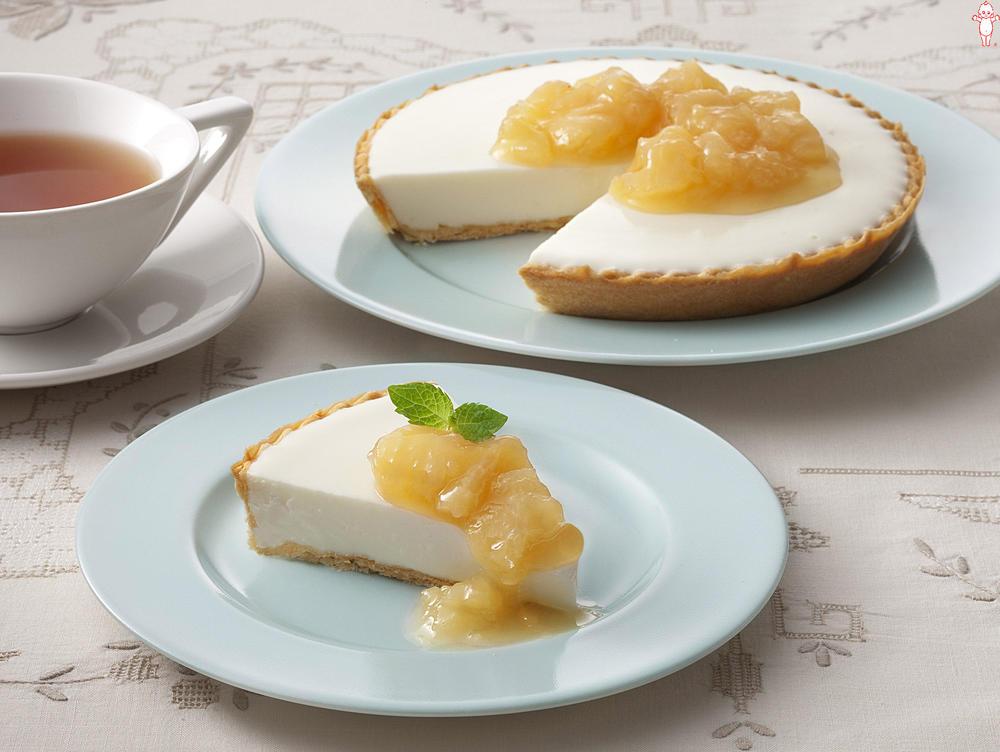 写真:白桃のレアチーズケーキ