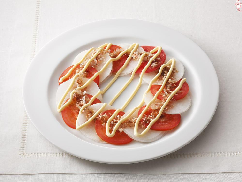 写真:大根とトマトのカプレーゼ風