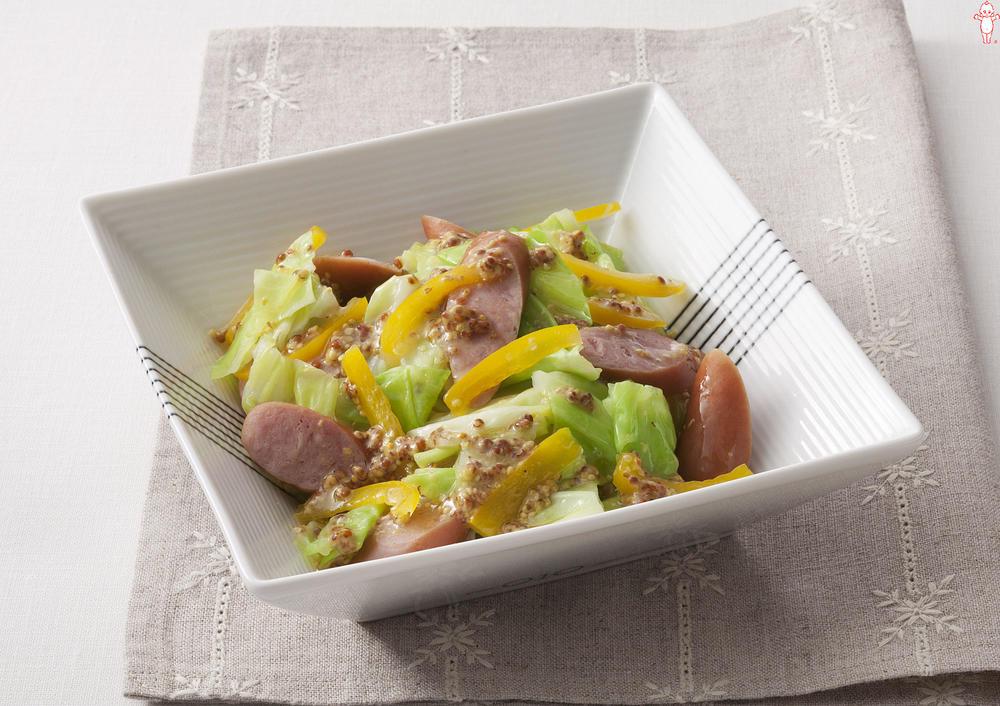 写真:キャベツとソーセージのマスタードサラダ