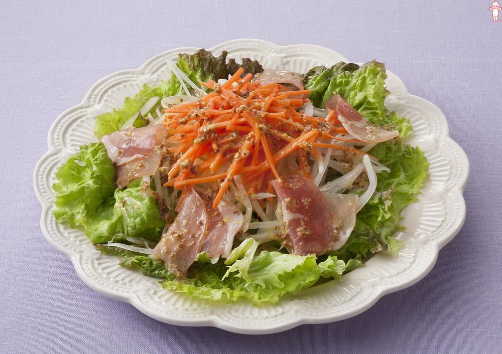 写真:にんじんと生ハムのマスタードサラダ
