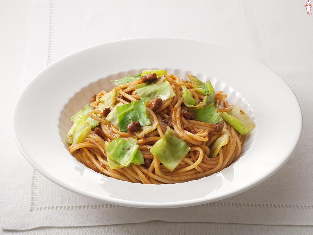 写真:キャベツのミートソーススパゲッティ