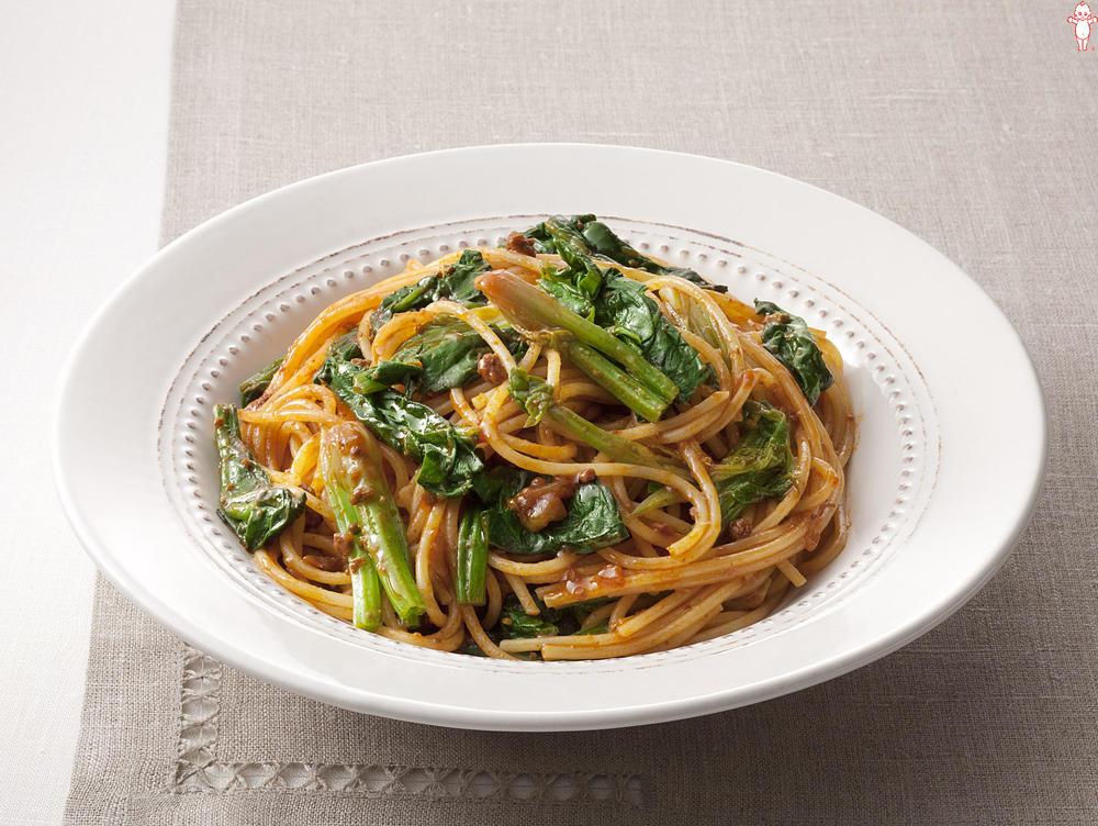 写真:ほうれん草のミートソーススパゲッティ