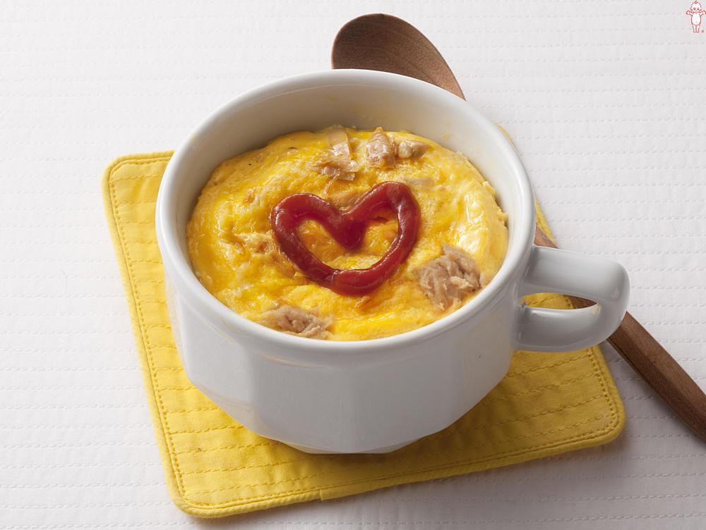 写真:マヨネーズで!ツナマヨのふわふわカップオムレツ