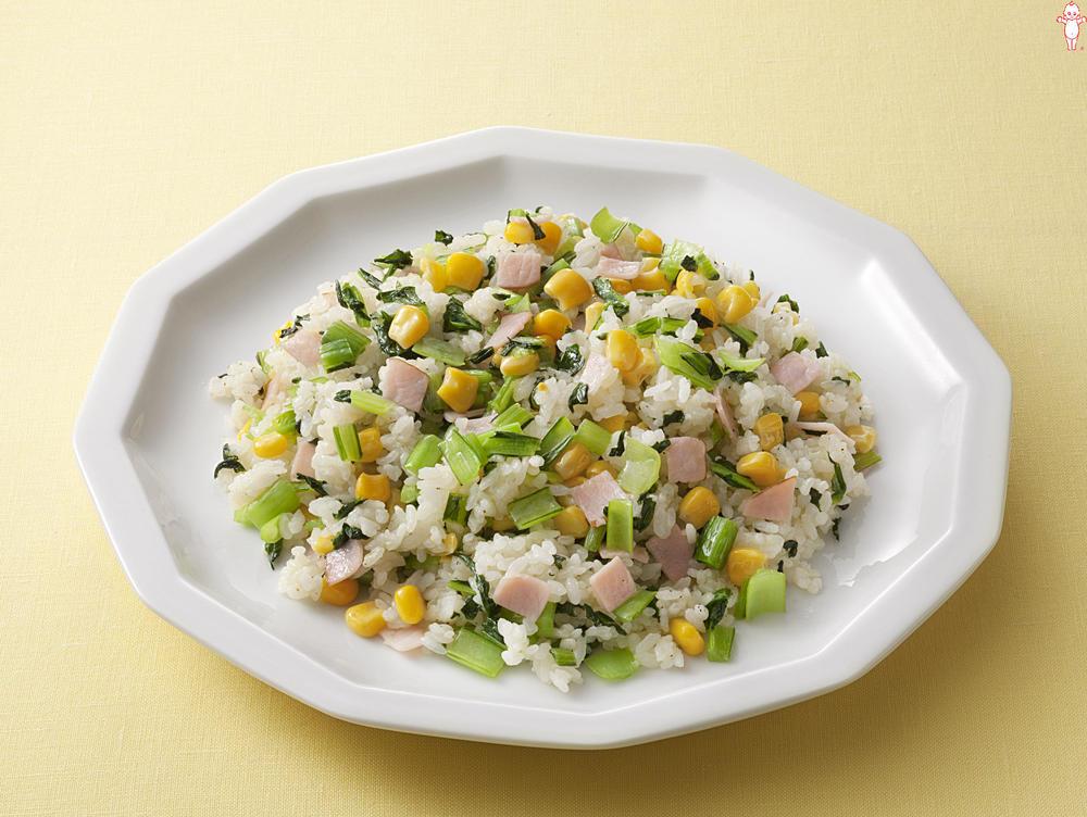 写真:マヨネーズで!パラッと小松菜のマヨチャーハン