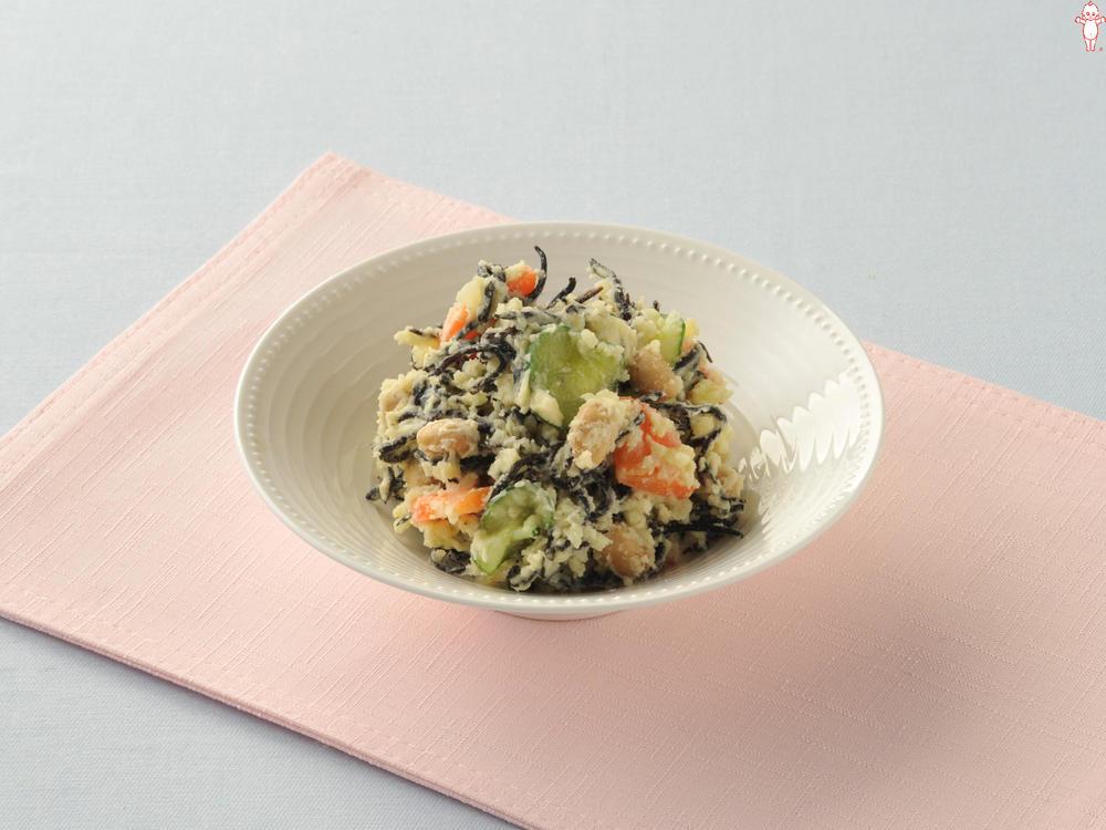 写真:ひじきと大豆の和風ポテトサラダ