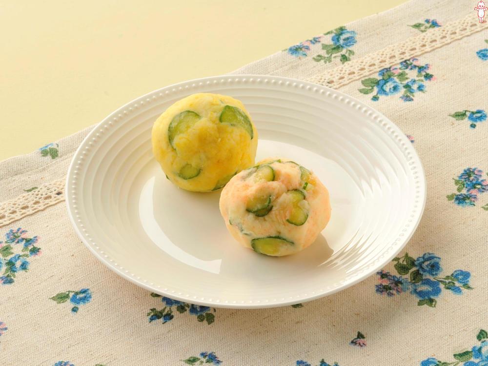 写真:2色のポテトサラダ