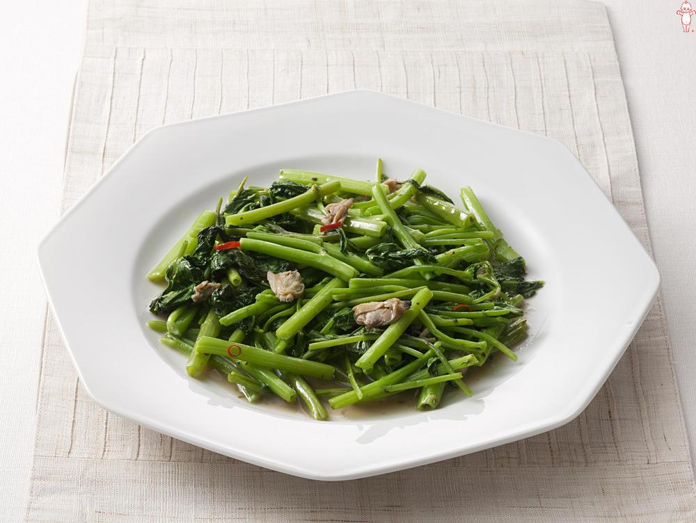 写真:あさりと青菜の中華炒め