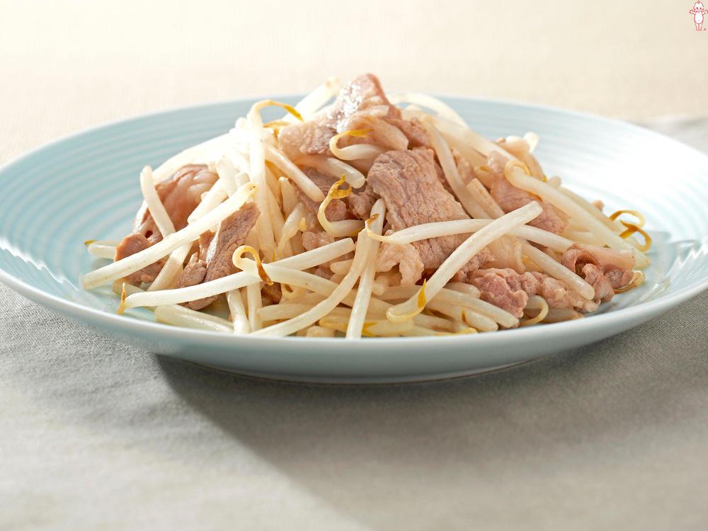 写真:シャキッともやしと豚肉のマヨネーズ炒め