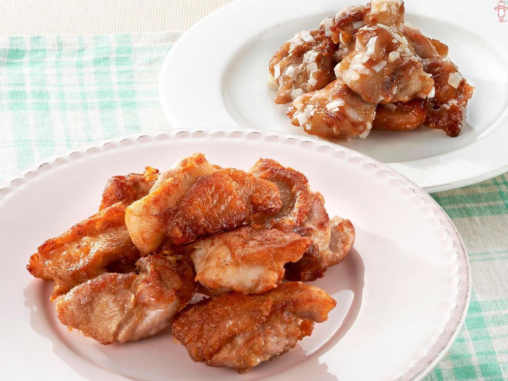 写真:やわらか鶏から揚げとさっぱり甘酢和え