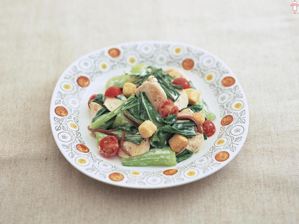写真:チンゲン菜とささみのサラダ