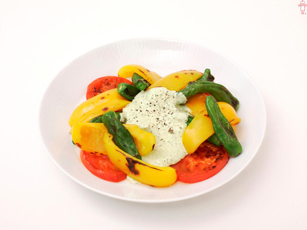写真:焼き夏野菜のきゅうりソース