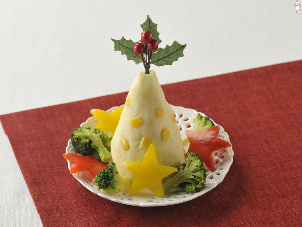写真:コーンポテトのクリスマスツリーサラダ