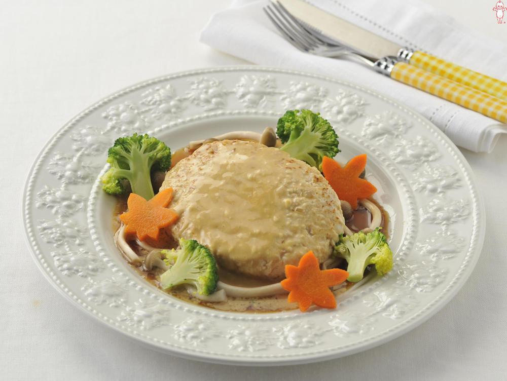 写真:照りマヨ豆腐ハンバーグ