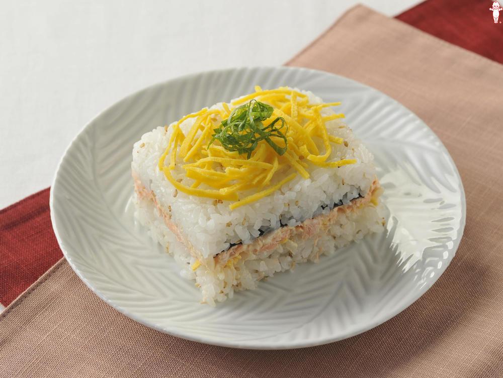 写真:鮭マヨ押し寿司
