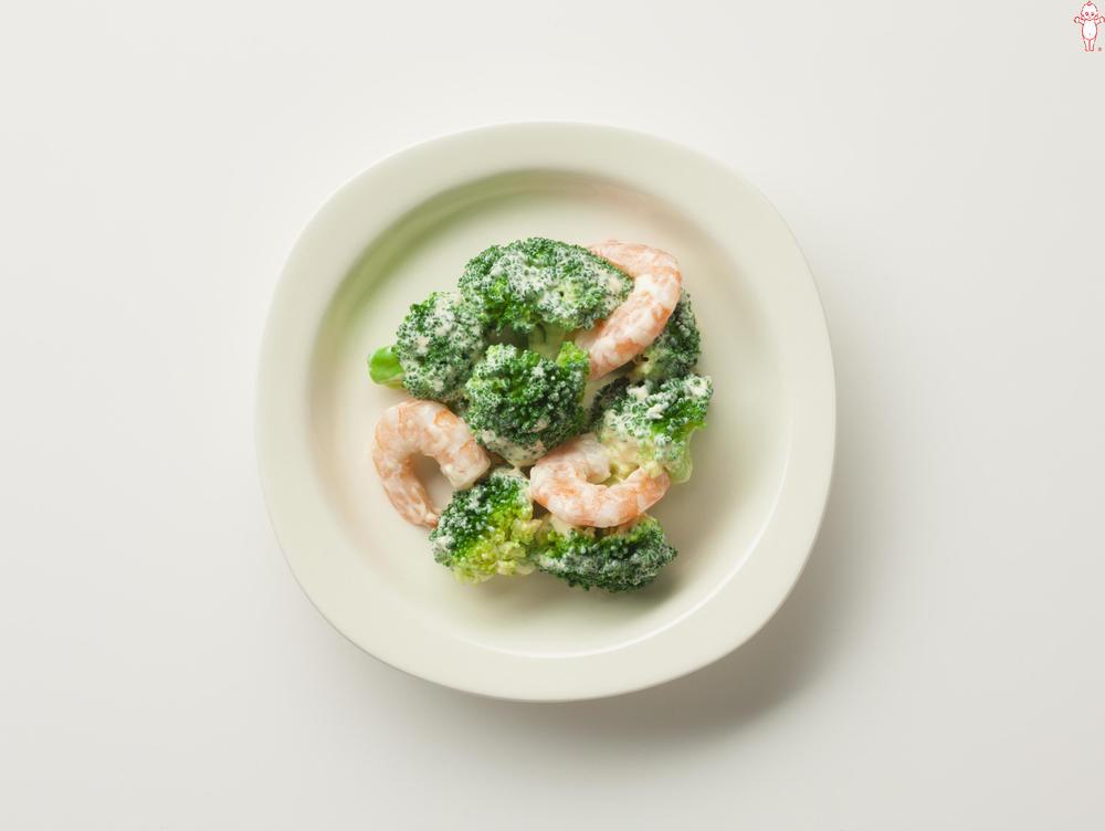 写真:ブロッコリーとえびのサラダ