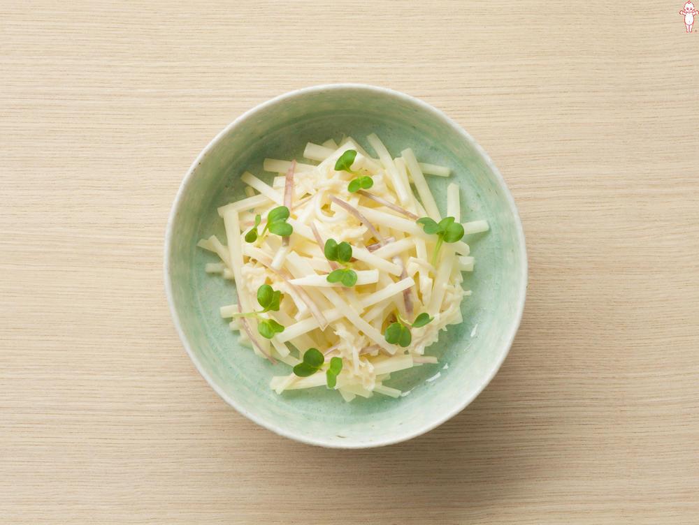 写真:大根とほたての香味サラダ