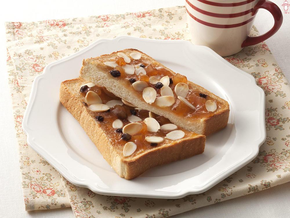 写真:アップル&シナモンのアーモンドトースト