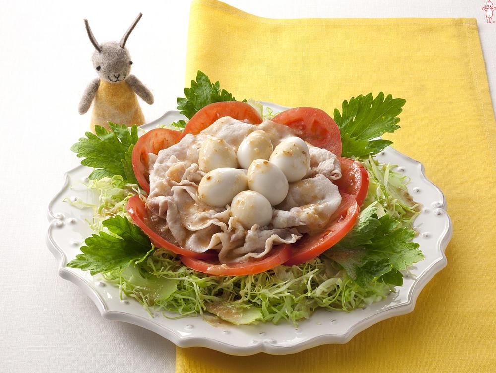 写真:豚しゃぶ巣ごもりサラダ