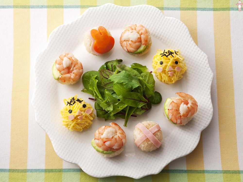写真:ひよことうさぎの手まり寿司