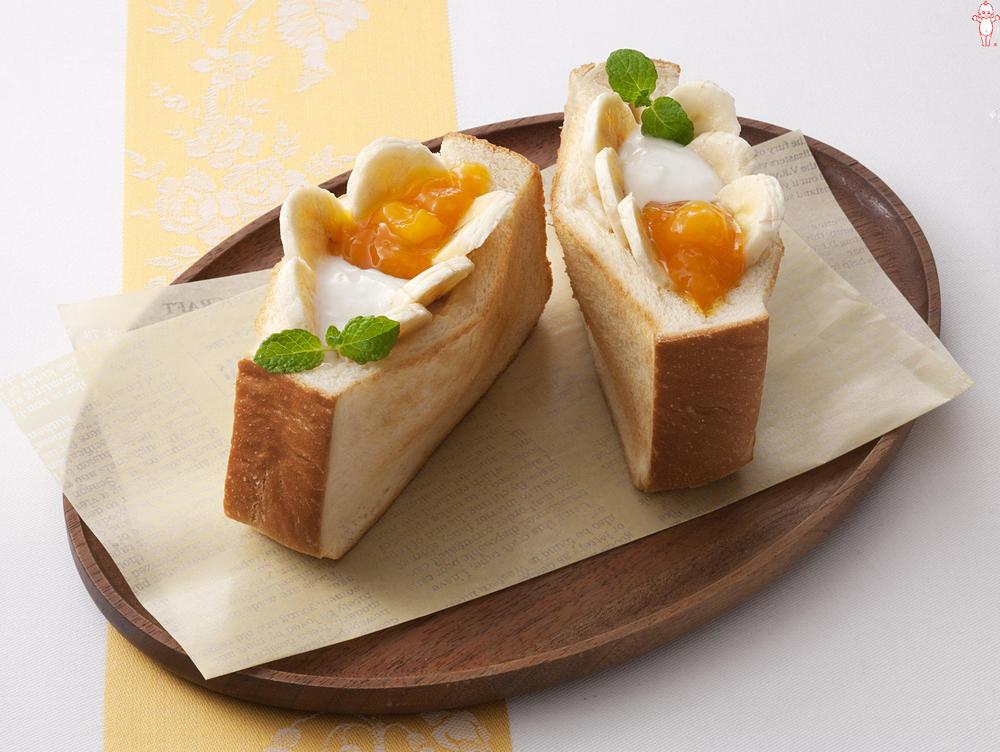 写真:マンゴーとバナナのホットポケットパン