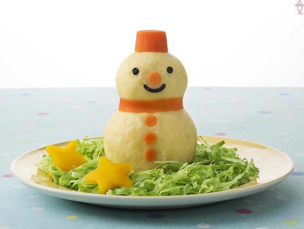 写真:雪だるまのポテトサラダ