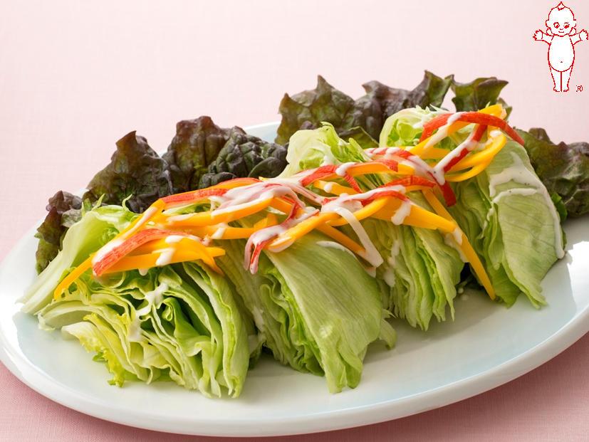 写真:ざく切りレタスのシーザーサラダ