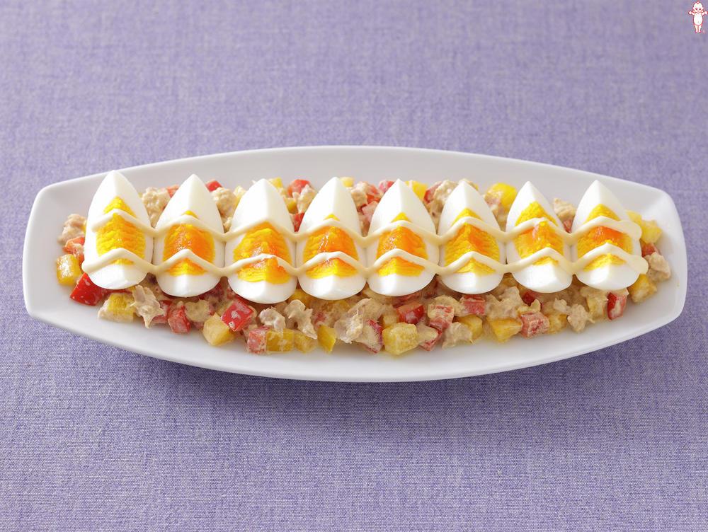 写真:パプリカツナエッグサラダ