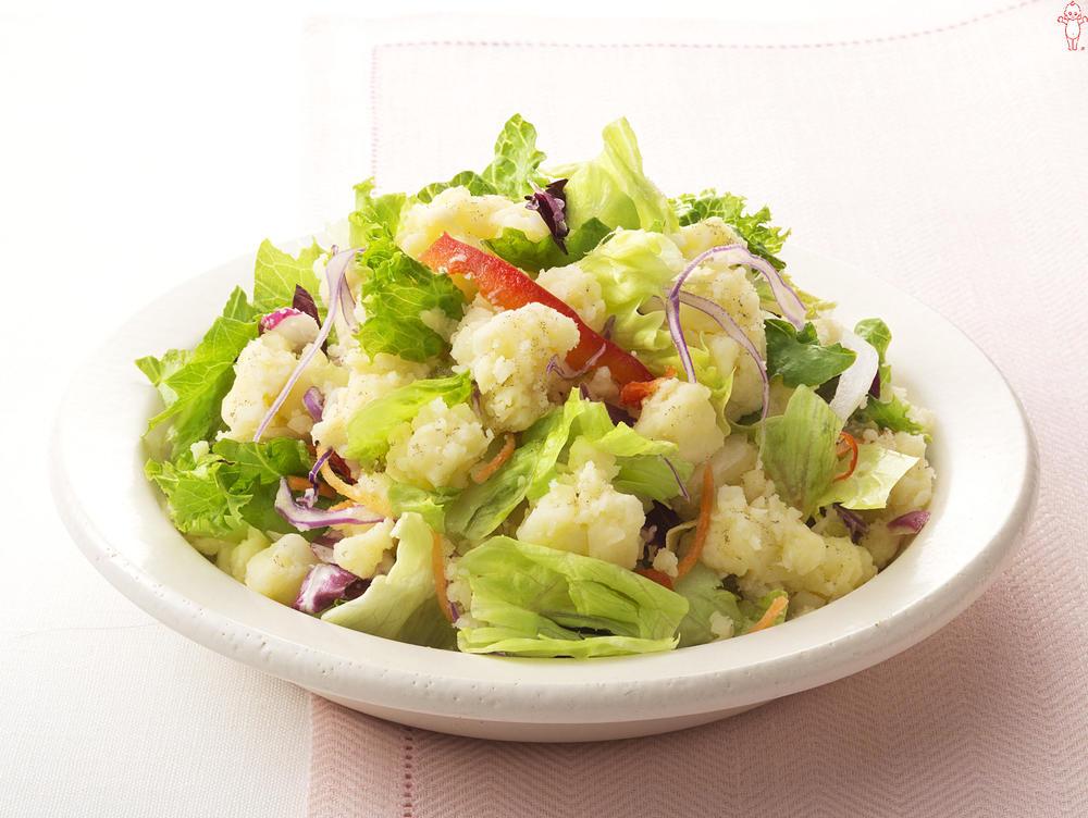 写真:シャキシャキレタスのポテトサラダ