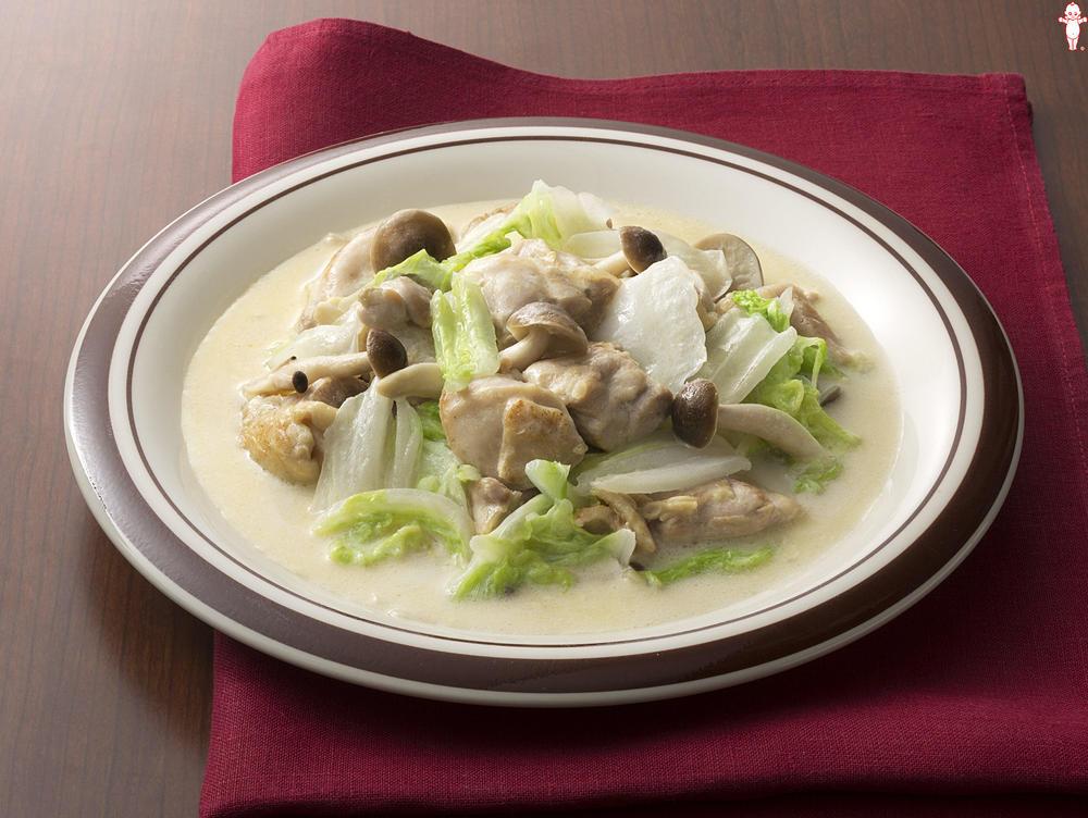 鳥 もも肉 白菜 簡単☆白菜と鶏もも肉のクリーム煮 by ゆうゆう0221