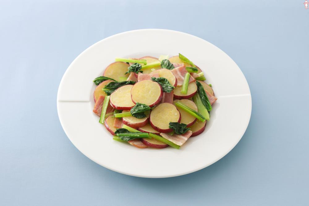 写真:さつまいもと小松菜のマヨソテー
