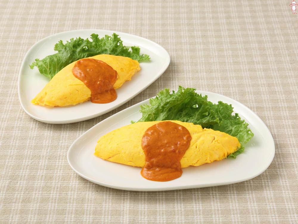 写真:カニのトマトクリームオムライス