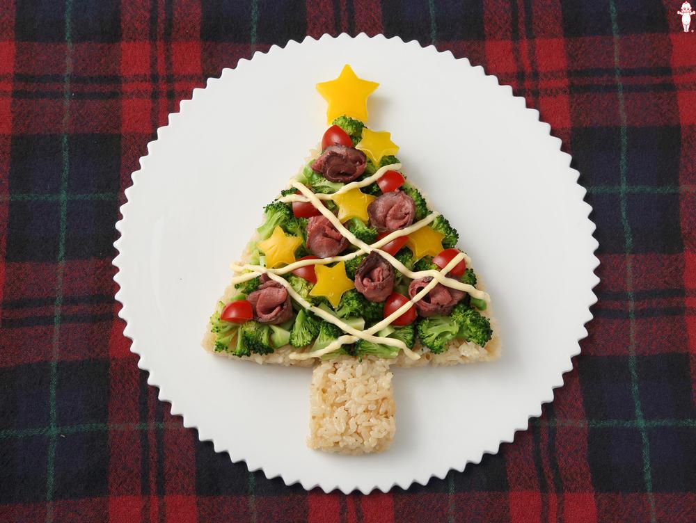 写真:クリスマスツリーサラダ寿司