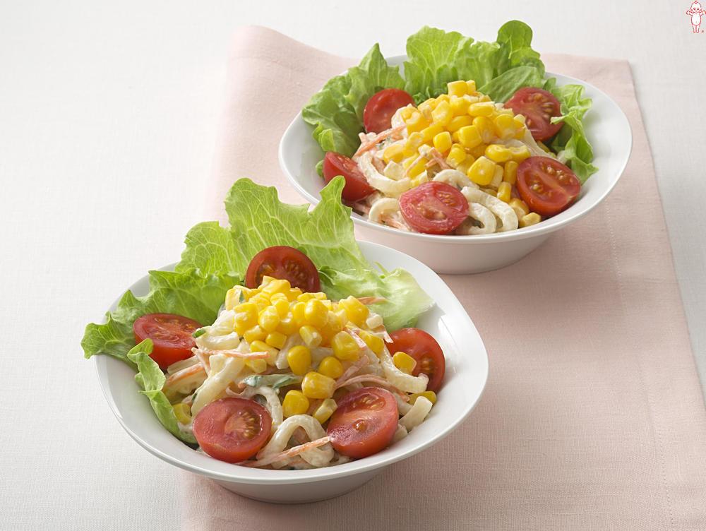 写真:うどんのマカロニ風サラダ