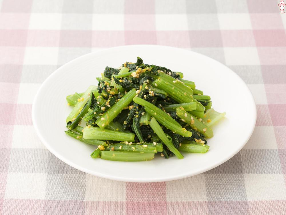 写真:小松菜のからし和え