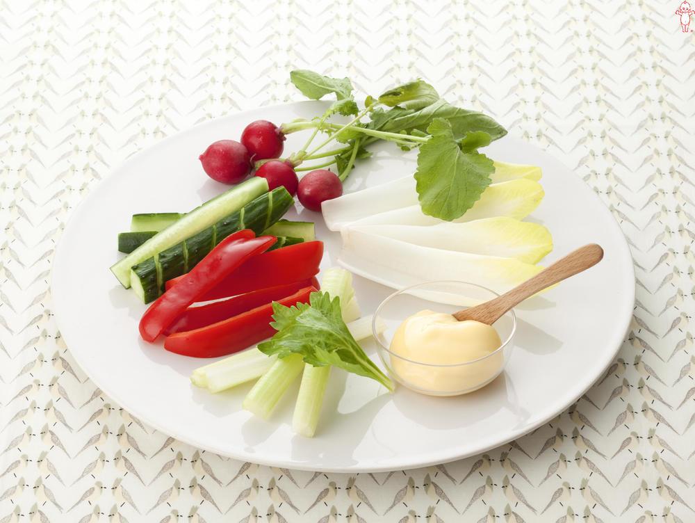 写真:彩り野菜の盛り合わせ マヨネーズディップ添え