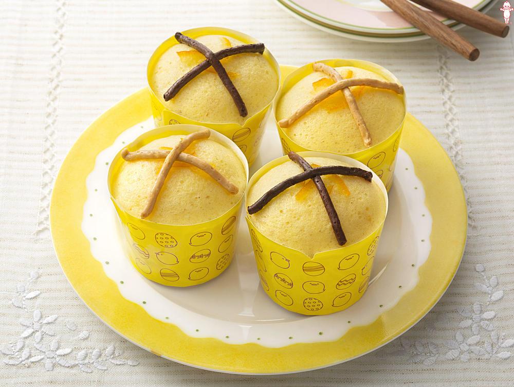 写真:ふんわりママレードのクロスカップケーキ