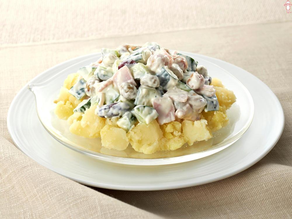 写真:野菜とお豆のヨーグルトがけ