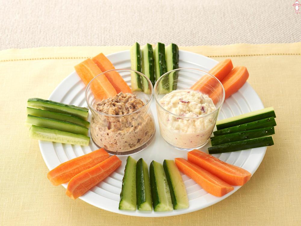 写真:スティック野菜 変わり種ディップ