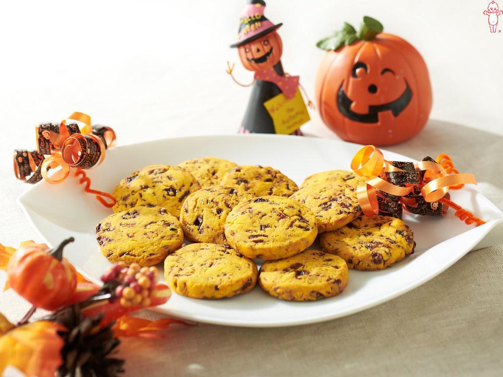 写真:かぼちゃとレーズンのクッキー