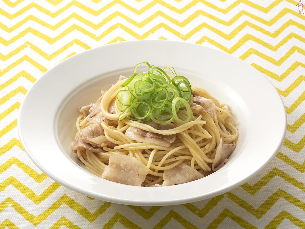 写真:和風ねぎ豚スパゲッティ
