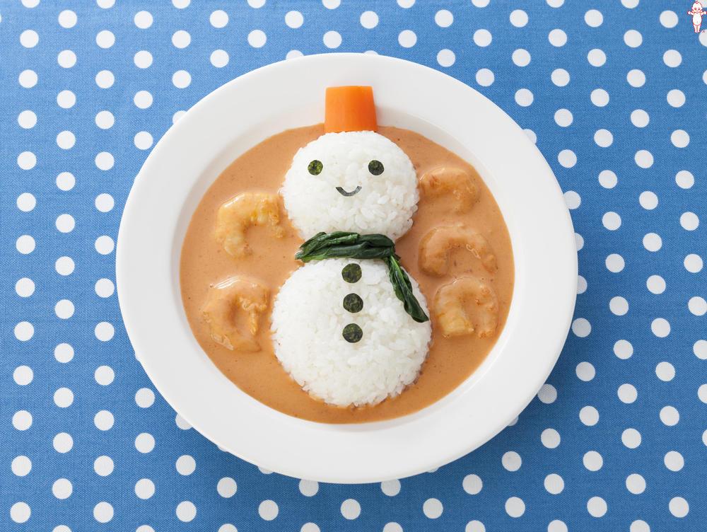 写真:雪だるまのごはん ビスク仕立て