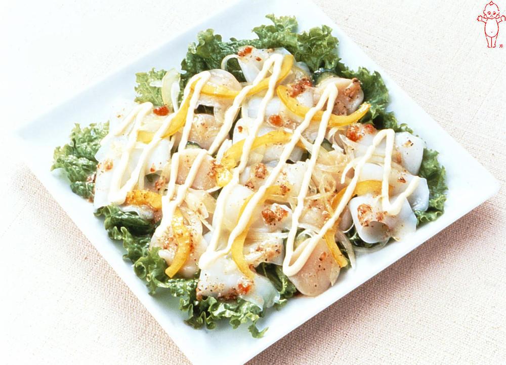 写真:シーフードと野菜のカルパッチョ