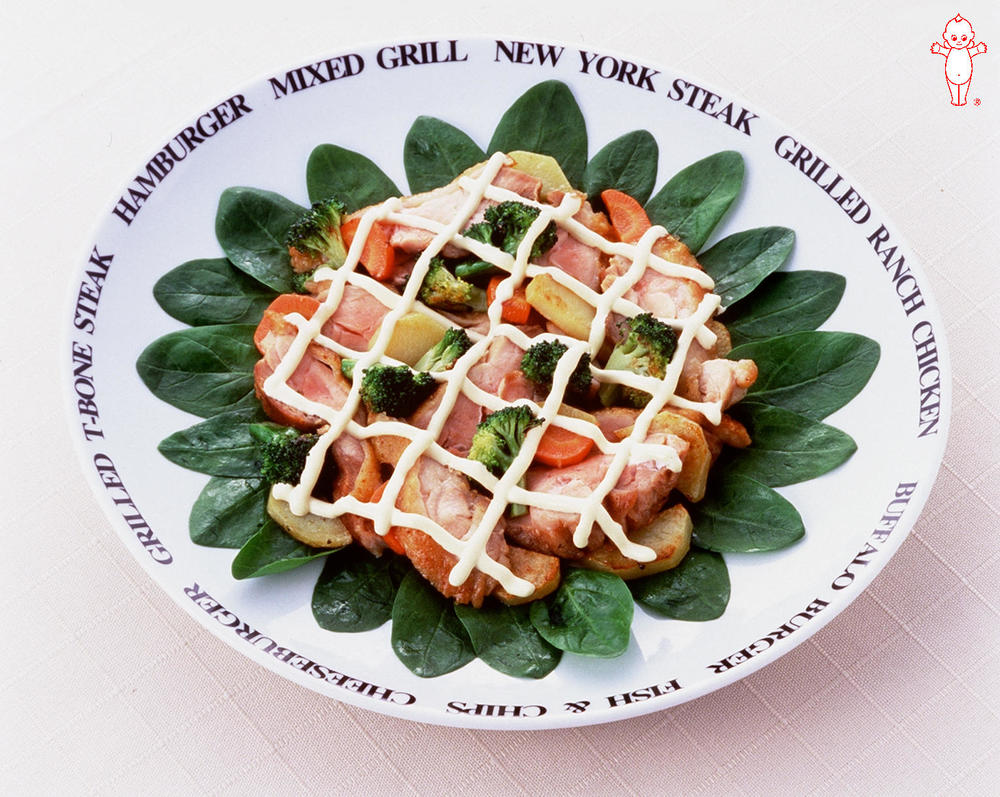 写真:あったか温野菜とチキンのカルパッチョ