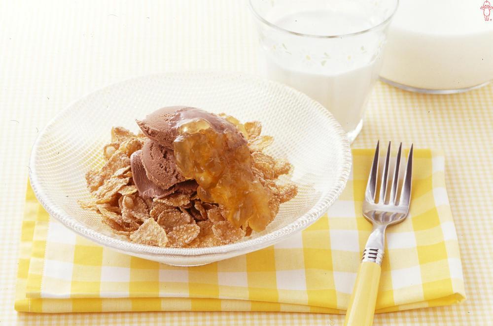 写真:オレンジ風味のチョコアイス