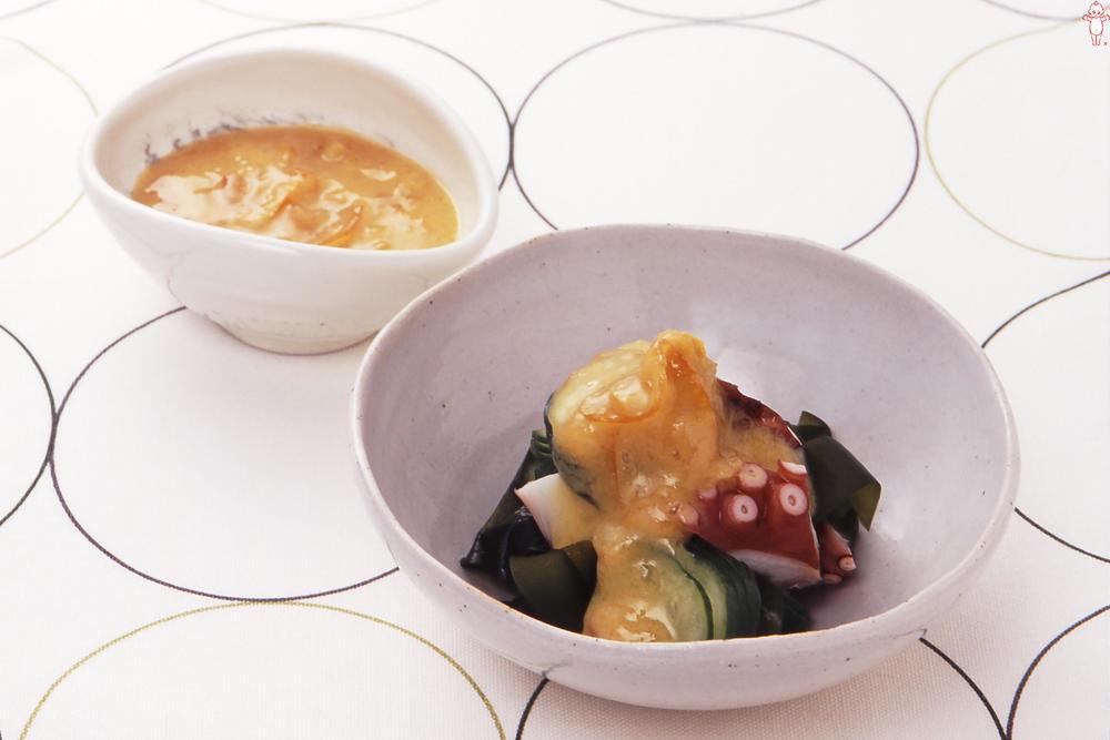 写真:たこときゅうりの酢味噌和え