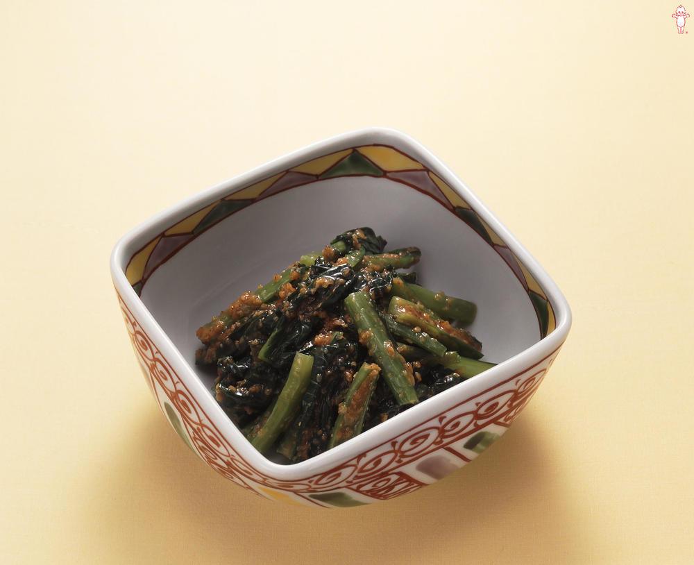写真:小松菜のごま和え