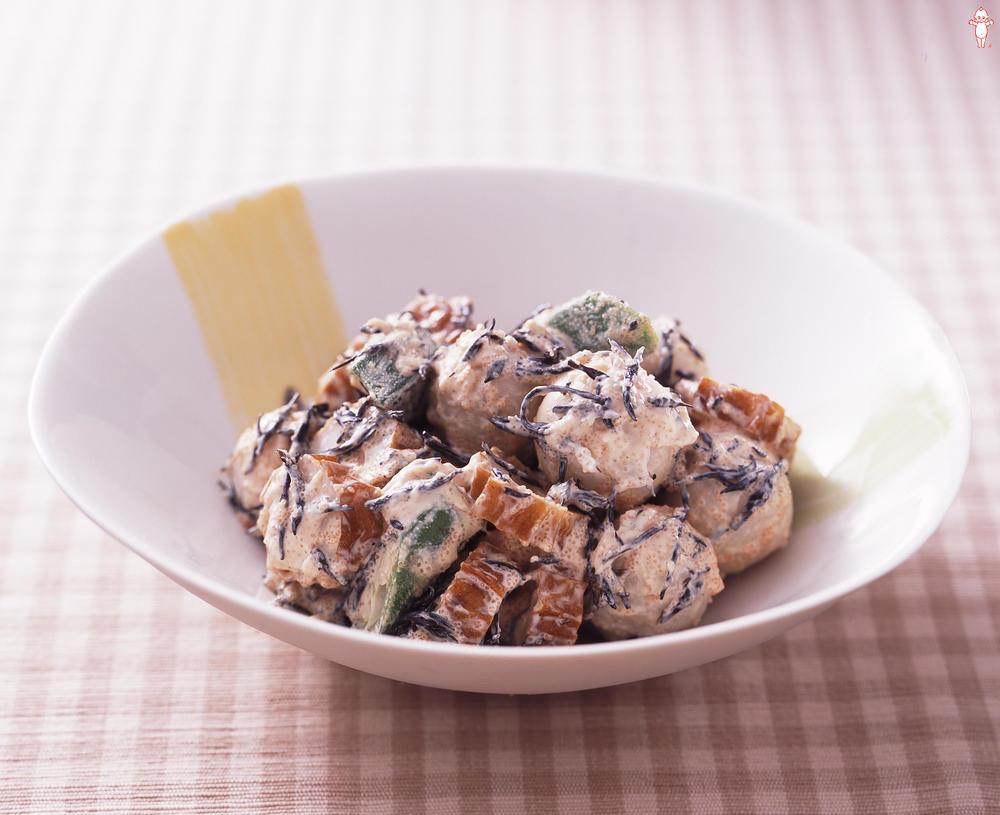 写真:里芋とひじきのたらこマヨ和え
